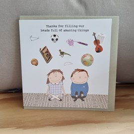 'Thanks For Filling Our Heads...' Teacher Card