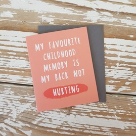 'My Favourite Childhood Memory...' Greetings Card