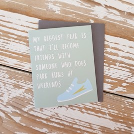 'My Biggest Fear...' Mini Greetings Card