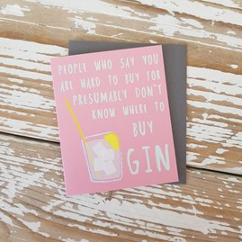 '...Where To Buy Gin' Mini Greetings Card