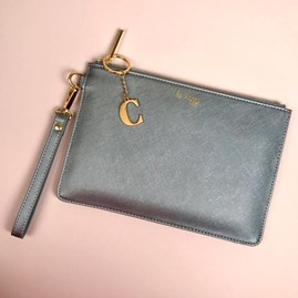 Katie Loxton Personalised 'Be Happy' Secret Message Clutch