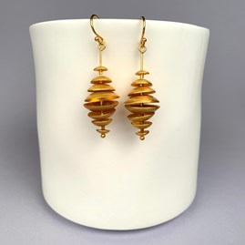 Topsy Turvy Gold Earrings