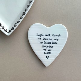 'People Walk Through Our Lives...' Porcelain Coaster