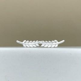 Sterling Silver Leaf Stud Earrings