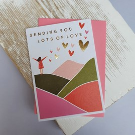 'Sending You Lots Of Love' Greetings Card