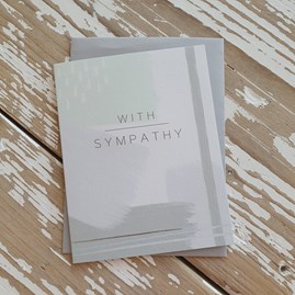 'With Sympathy' Greetings Card