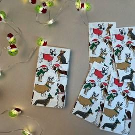 Botanical Christmas Hound Pocket Tissues