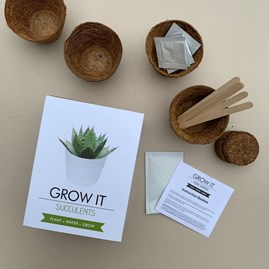 Grow It Succulents Gift Box