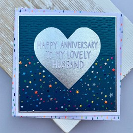 'Happy Anniversary To My Lovely Husband' Greetings Card