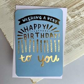 'Wishing A Very Happy Birthday...' Greetings Card