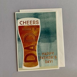 'Cheers Dad!...' Father's Day Card