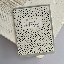 'Happy Birthday!' Dots Greetings Card