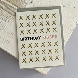 'Birthday Kisses' Greetings Card