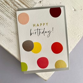 'Happy Birthday!' Spots Greetings Card