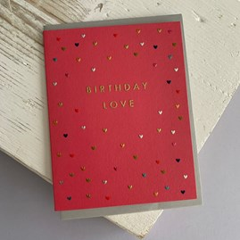 'Birthday Love' Greetings Card