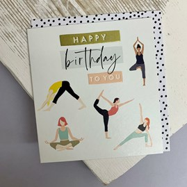 'Happy Birthday To You' Yoga Greetings Card