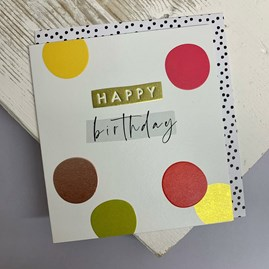 'Happy Birthday' Spots Greetings Card