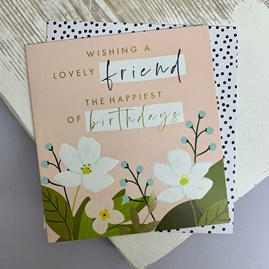 'Wishing A Lovely Friend...' Greetings Card
