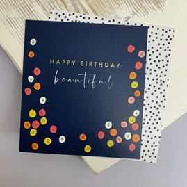 'Happy Birthday Beautiful' Greetings Card