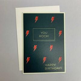 'You Rock!...' Greetings Card