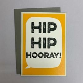 'Hip Hip Hooray! Greetings Card