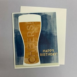 'Cheers! Happy Birthday' Greetings Card