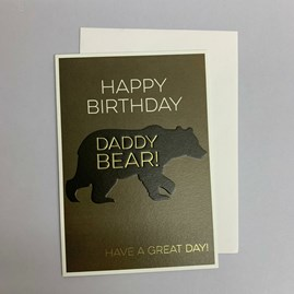 'Happy Birthday Daddy Bear!' Greetings Card