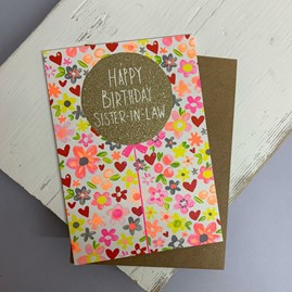 'Happy Birthday Sister-In-Law' Greetings Card