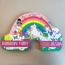 Rainbow Fairy 80 Piece Shaped Jigsaw Puzzle