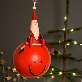 Space Hopper Santa Hanging Christmas Decoration
