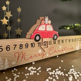 Wooden Merry Christmas Advent Rule