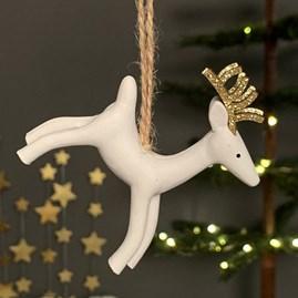 Resin Hanging Reindeer Decoration