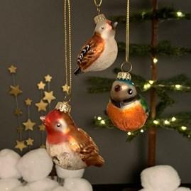 Coloured Glass Bird Decoration