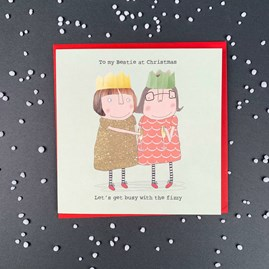 'To My Bestie At Christmas...' Christmas Card