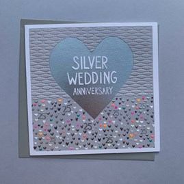'Silver Wedding Anniversary' Greetings Card