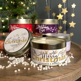 Pintail 'Merry Christmas' Tin Candle