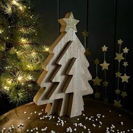 Triple Christmas Slotted Tree
