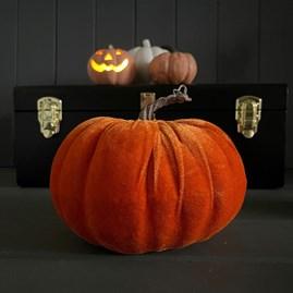 Velvet Pumpkin Decoration