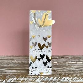 'Wedding Day' Hearts Bottle Gift Bag