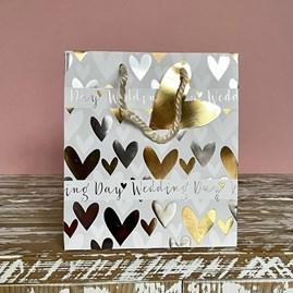 'Wedding Day' Hearts Medium Gift Bag