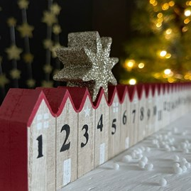 Wooden Advent Count Down