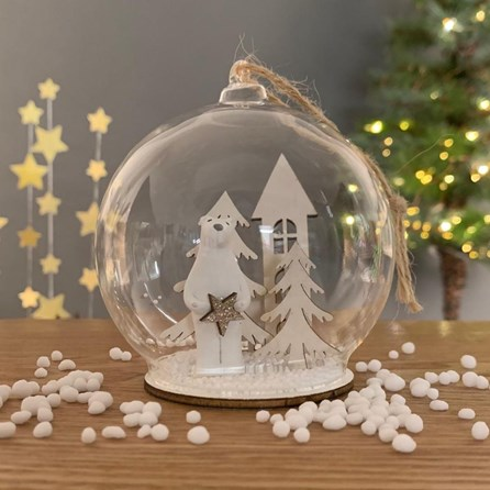 Polar Bear In A Snow Globe