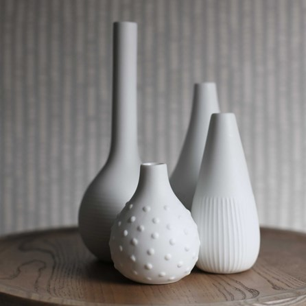 Porcelain Engraved Flower Vases