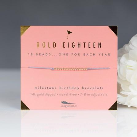 'Bold Eighteen' Milestone Birthday Bracelet