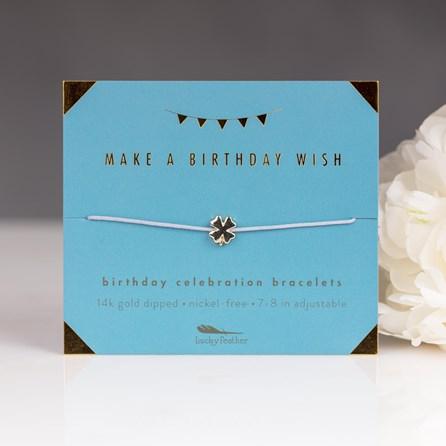 'Make A Birthday Wish' Celebration Birthday Bracelet