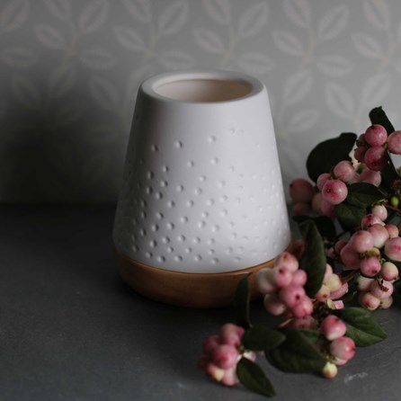 Porcelain Tea Light Lantern With Dots