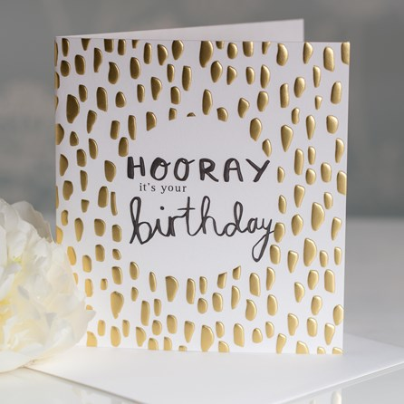 Caroline Gardner 'Hooray It's Your Birthday' Greetings Card