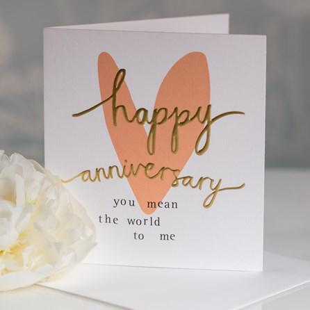 Caroline Gardner 'Happy Anniversary' Greetings Card