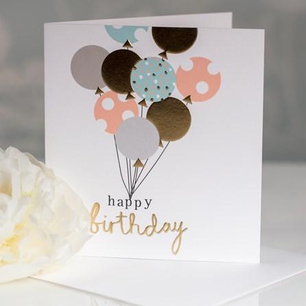 Caroline Gardner 'Happy Birthday' Balloons Greetings Card