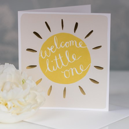 Caroline Gardner 'Welcome Little One' Greetings Card